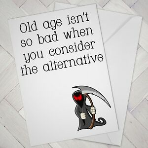 Funny birthday card cheeky naughty joke humour old older aged grim image is loading funny birthday card cheeky naughty joke humour old bookmarktalkfo Image collections
