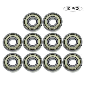10pcs Rubber Sealed Deep Groove Ball Roller Bearings Linear Bearings Bushing CE