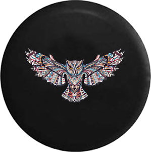 Spare Tire Cover Owl Mosaic for Jeep Rubicon Liberty Camper