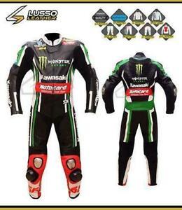 Motorcycle Leathers - CUSTOM KAWASAKI RACING SUITS- Custom Design - Custom Lettering and Logos Canada Preview