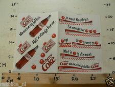 STICKER,DECAL COCA COLA CHERRY COKE WAANZINNIG LEKKER SHEET DOUBLE
