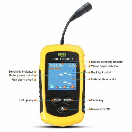 Russian Warehouse Alarm With 100M Portable Sonar Fish Finders Fishing