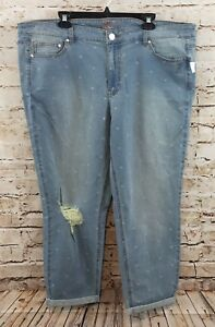 Lumi Femmes Legend Broderie Slim Floral Jeans Cheville 22w Love F8nSwgW8