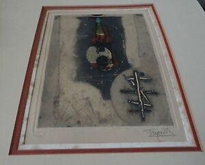 Johnny-Friedlaender-German-French-1912-92-Le-Voyage-Etching-Signed-48-of-95