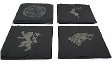 Game of Thrones Slate Coaster's With Laser Engraved House Sigil's