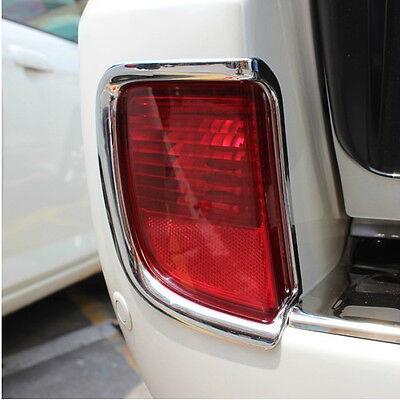 Chrome Rear Fog Light Cover Trim For Toyota Land Cruiser FJ200 LC200 2008-2015