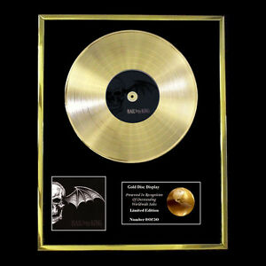 AVENGED-SEVENFOLD-HAIL-TO-THE-KING-CD-GOLD-DISC-RECORD-VINYL-LP-FREE-P-P