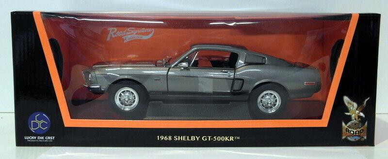 Lucky Diecast 1 18 Scale - 92168 1968 Shelby GT-500KR Dark grau Metallic