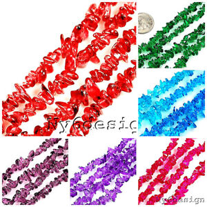 3-6-amp-6-9mm-Freeform-Chip-glass-chips-Beads-36-inch-strand-Wholesale-Jewelry-Makin