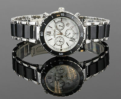 Elegant Damenuhr Herrenuhr Rosegold Gelbgold  Schwarz Armband UVP: 39€ U1526