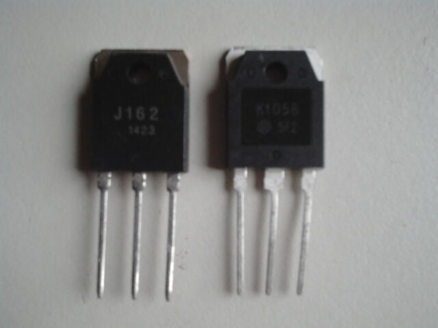 2SJ162 + 2SK1058 lateral Mosfets, complementairy pair