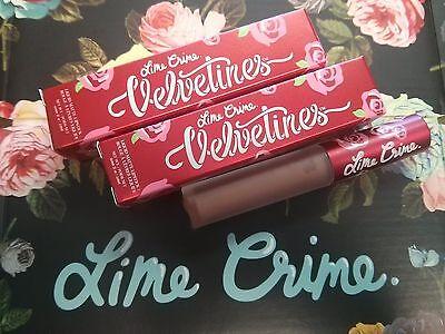 LIME CRIME Velvetines Liquid Lipstick Matte CASHMERE, RIOT, WICKED, RAVE- CHOOSE