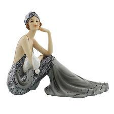 Juliana Art Deco Broadway Belles Silver /Grey Lady Figurine / Ornament.New.60819