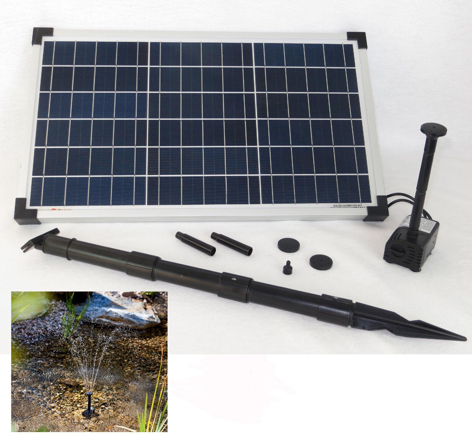 20 W bomba solar solar de jardín bomba estanque bomba estanque bomba jardín surtidor nuevo