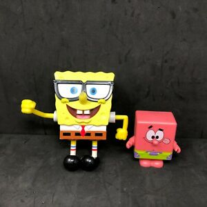 Lot Of 2 SpongeBob SquarePants /& Patrick Action Figure Gift Toys