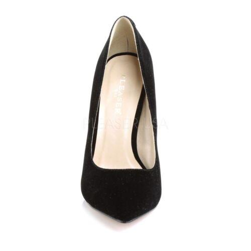 20 hidden-plateforme PUMP Noir Velours Soirée Chaussure élégante Lune ‰ N PU. Pleaser Tourbillon