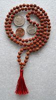 Rudraksh Rudraksha Hand Knotted 6-7mm 108+1 Mantra Mala Beads Necklace -