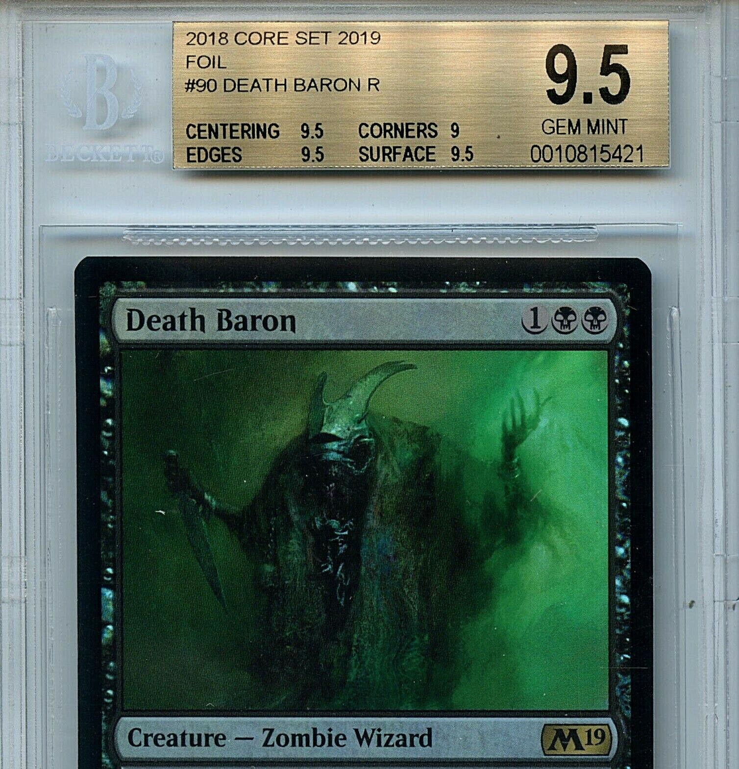 MTG MTG MTG Blood Baron BGS 9.5 Gem Mint M19 Core Set Magic Card Amricons 5421 32cf62