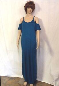 Rags-amp-Couture-Women-039-s-Cold-Shoulder-Maxi-Dress-Size-Small-Royal-Blue-Color