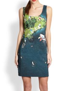 AKRIS Punto Wind Surf Print Silk Dress SZ 38 = US 6 - NWOT