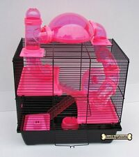 Hamsterkäfig Teddy LUX Rocky * Röhren * Terrasse PINK