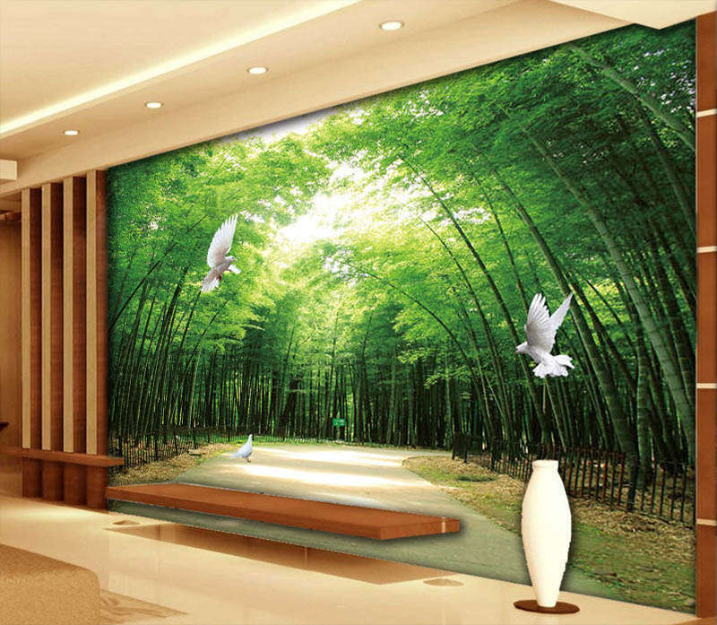 Simple Avenue 3D Full Wall Mural Photo Wallpaper Printing Home Kids Decoration