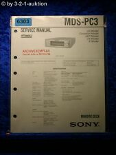 Sony Service Manual MDS PC3 Mini Disc Deck (#6303)