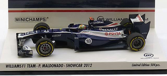 Minichamps Williams F1 Showcar 2012 - Pastor Maldonado 1 43 Scale