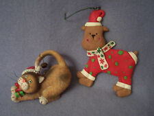Cat and Dog Christmas Ornaments