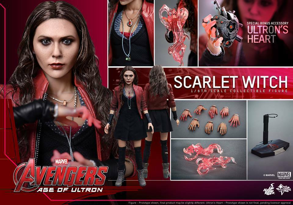 HOT HOT HOT TOYS MMS301 AVENGERS AGE OF ULTRON SCARLET WITCH 1 6 e5d35a