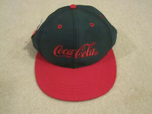 Vintage Coca Cola hat ball cap Coke new with tag red and green RARE ... 2c0f7d454d8
