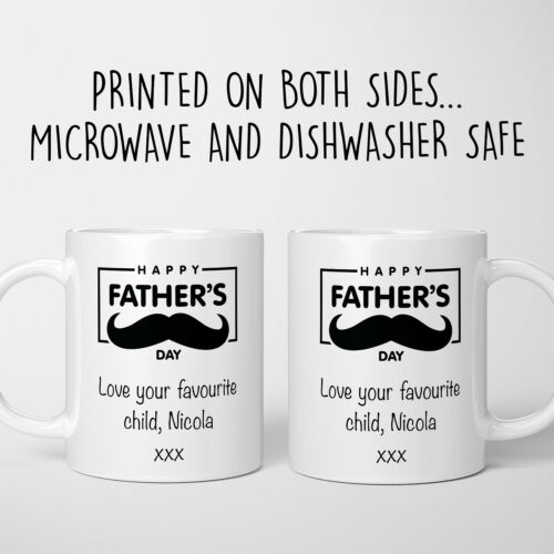 Personalised Fathers Day Gift Mug Favourite Child Dad Papa Love Step Dad