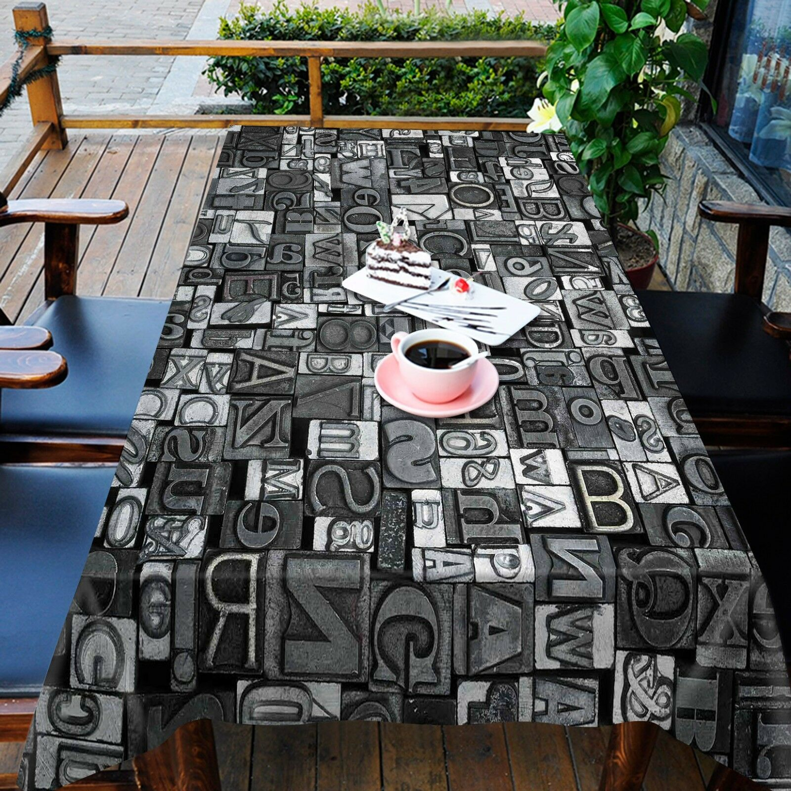 3D Letter 4544 Tablecloth Table Cover Cloth Birthday Party Event AJ WALLPAPER AU