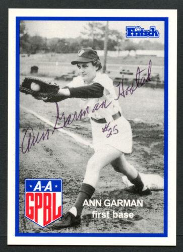 Ann Garman #69 Autographe Signé Auto Fritsch Aagpbl Baseball