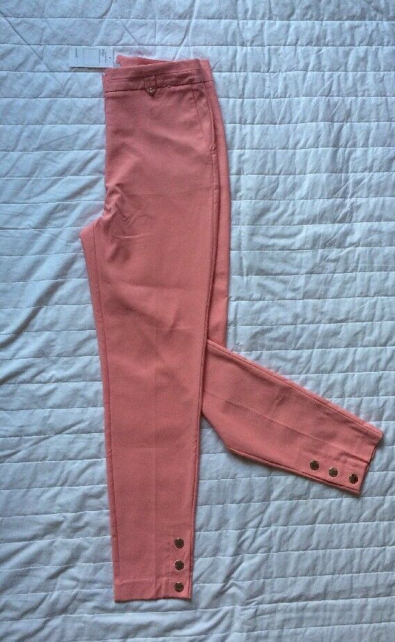 New  Size 10 Ladies Pink Tailored Cotton Trousers