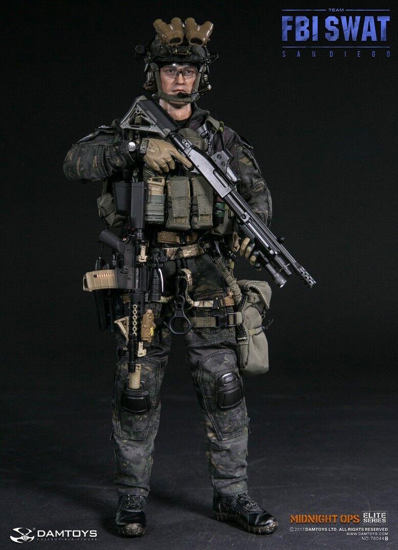 DAM Toys Elite Series US FBI SWAT TEAM AGENT - SAN DIEGO MIDNIGHT OPS 1 6 Figure