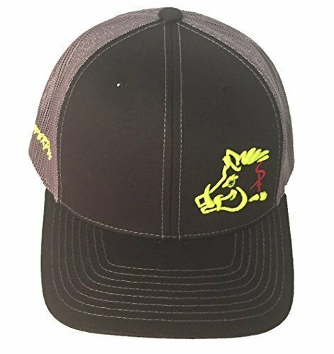 Sniper Pig Black and Yellow Snapback Hat