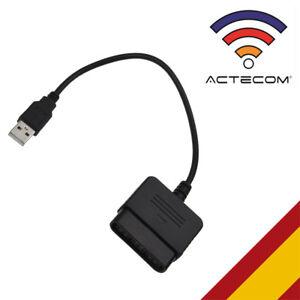 ACTECOM® ADAPTADOR PARA MANDO PS1 PS2 a PS3 / PC A USB