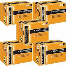 10 DURACELL INDUSTRIAL AA BATTERIES PROFESSIONAL ALKALINE REPLACES PROCELL AA