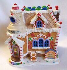 "Lemax Sugarlane Peppermint Post Office Porcelain Light Up House Orignl Box 6.5"""