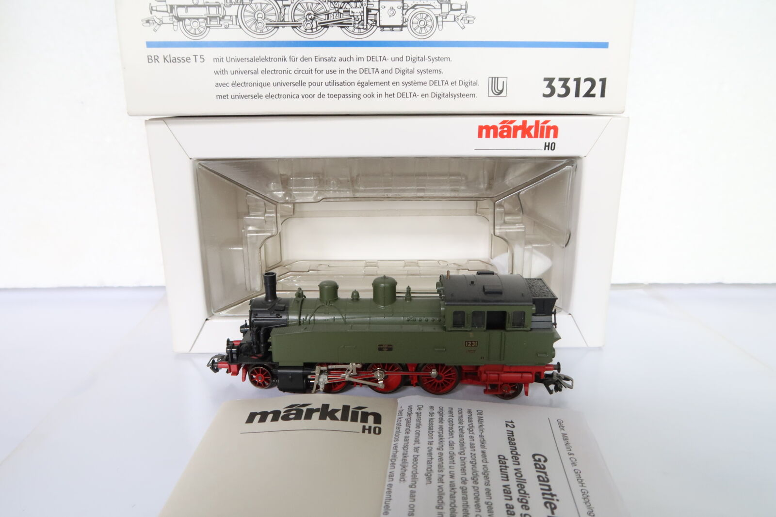 Digital Märklin HO AC 33121 a vapore Lok t5 BR 1231 Württemberg (dh 19-69r3 3)