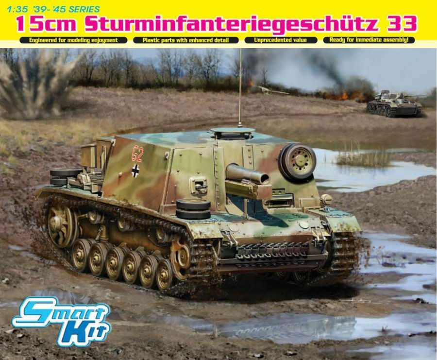 Dragon - 1 35 15cm StuG 33 Sturmpanzer Smart Kit