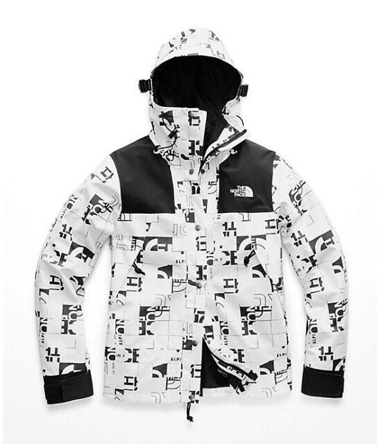 7b92bbe2a North Face 1990 Mountain Jacket GTX White Broken Grid Logo Print Womens Sz  XL