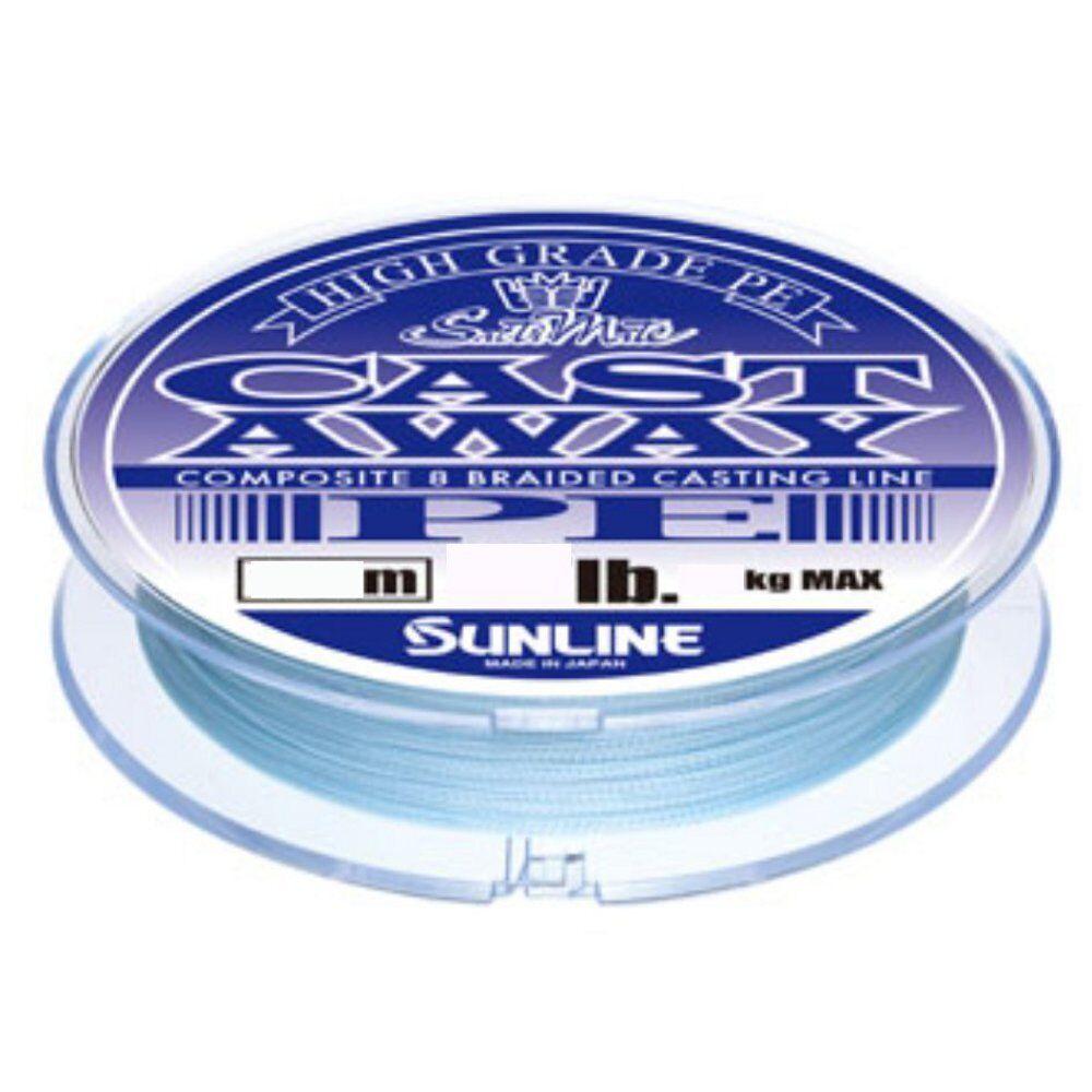 NEW Sunline Saltimate Castaway PE 200m 50lb 19.0kg Purple  bluee 8 Braid Line JPN  order online