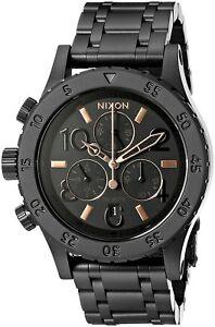 Nixon-A404-957-00-38-20-Chronograph-38mm-All-Black-Rose-Gold-A404957