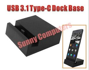 USB-3-1-Type-C-USB-C-Dock-Base-Cradle-Station-for-HTC-10-Huawei-P9-P9-P9-Plus