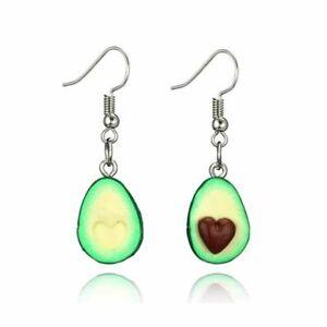 1X-Simple-Fashion-Cute-Fruit-Oval-Heart-Avocado-Dangle-Earrings-Women-FashiG8D4