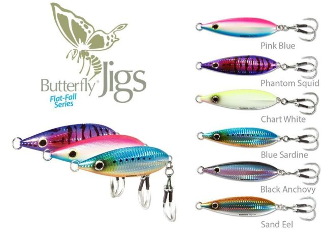 9b1815cead5 Shimano Butterfly Flat-Fall Jig - Sinking Flat Fall- Pick Color/Size -