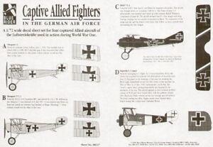 Blue Rider 1/72 WWI Capturado Allied Luchadores En Alemán Servicio #227