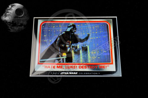 2015 Star Wars Celebration Topps EXCLUSIVE DARTH VADER 5 Card Set LIMITED TO 100